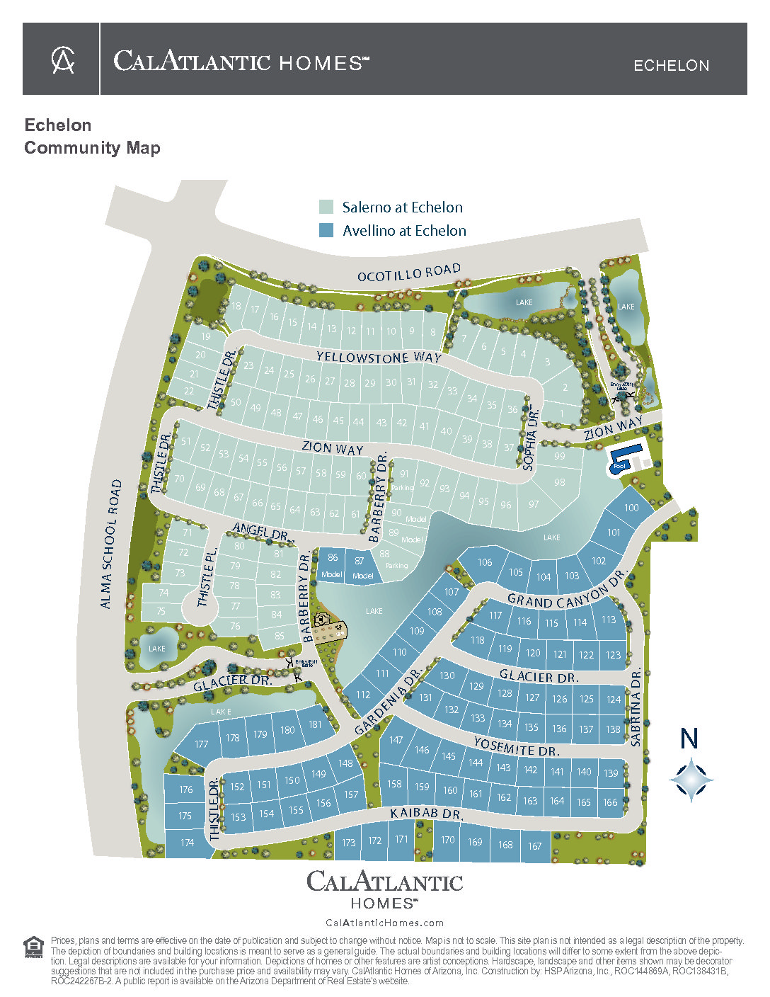 New Lake Subdivision in Ocotillo Area of Chandler